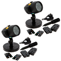 STAR SHOWER SLIDE SHOW - Projecteur LED- Lot de 2
