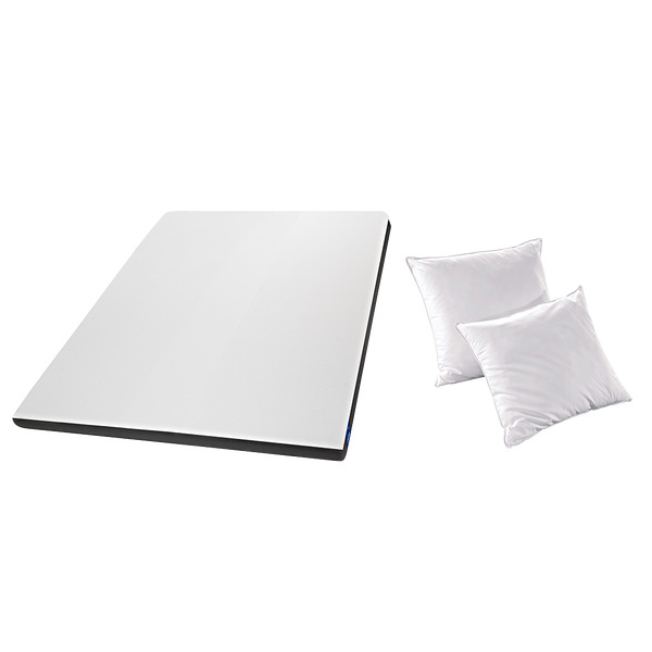 video EAZZZY TOPPER - Surmatelas 140x200 + Lot de 2 Oreillers